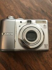 Canon PowerShot A1100 IS Digital Camera 12.1MP 4X Optical Zoom Silver PC1354