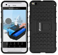 AMZER Dual Layer Rugged Hybrid Armor Warrior Case w/ Stand For HTC One X9 -Black