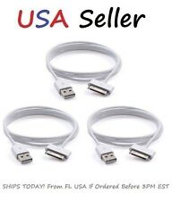 3X USB Cable For iPhone 4 4S iPod 4th Gen Data Dock Sync Charger Cord