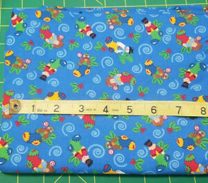 2 1/6 yds Trena's Little Bit of Christmas Sewing Fabric General Fabrics Stocking