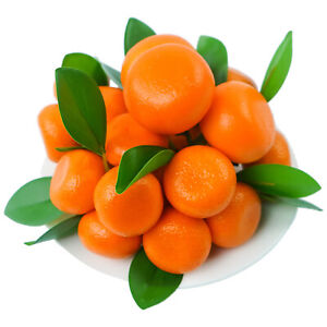 9PCS Artificial Lifelike Simulation Orange Fake Fruit Home Kitchen Party Decors