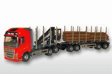 EMEK 71305 Volvo FH04 GL 6x4 Holzhängerzug 1:25 rotes FH, 6x4 mit 4achs Anhänger