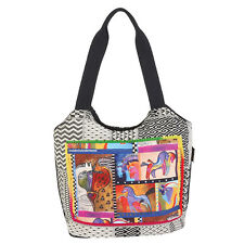 Laurel Burch Cat Friends Clan Wild Rainbow Indigo Love Horses 2pc CrossBody Bag
