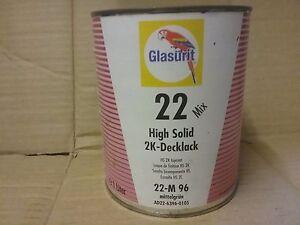 Glasurit 22 Line  22-M96  1 litre HS Solid Colour tinter   BASF mixing tinter