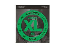 CORDE PER BASSO FLATWOUND SL 040/095 SCALA LUNGA D'ADDARIO ECB80 Chromes