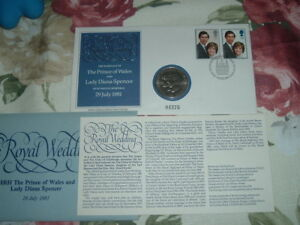 1981 COIN Jeffery Matthews BFDC THE ROYAL WEDDING Diana Spencer Prince Wales