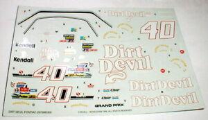 DIRT DEVIL #40 Pontiac Grand Prix Stock Car Model Car Decals Monogram NASCAR