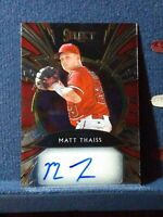 2020 Panini Select Sparks Signatures #SS-MT Matt Thaiss RC Auto #d /199 Angels