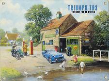 New 30x40cm Triumph TR3 retro large metal advertising wall sign