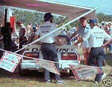 PAUL NEWMAN CASUAL PITS RACE CAR PHOTO RACING BOB SHARP BUDWEISER DATSUN 280ZX
