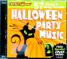 HALLOWEEN PARTY MUSIC - 57 SONGS & SCARY SOUNDS CD + VIRTUAL HAUNTED HOUSE DVD!!