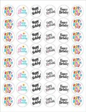 "Happy Birthday Envelope Seals - 1.2"" Happy Birthday Stickers -  25112"