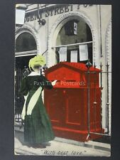 REGENT STREET POST OFFICE With Best Love Great c1907 Postcard by B & D 21768/X