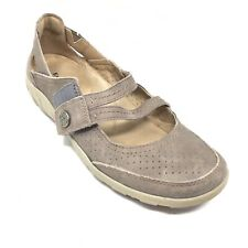 Women's Earth Origins Remy Mary Jane Loafers Shoes Size 6.5 M Gray Suede C2
