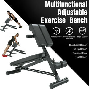 Adjustable Weight Bench Utility Bench Home Gym Fitness Roman Chair Workout NEW