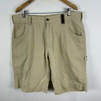 Driza Bone Mens Shorts 40 Beige Zip Closure Chino Pockets