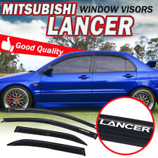 2For 01-07 Mitsubishi Lancer Mugen Acrylic Smoke Tape On Window Visor Deflector