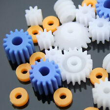 Robot Motor Gear Set Worm Crown Toy Plastic Gears Pulley Belt Shaft 13 value
