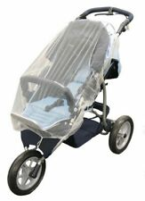 Mosquito net for double buggies and jogger strollers, white