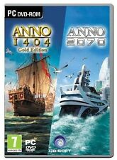 Anno 1404 Gold Edition & Anno 2070 Double Pack [PC-DVD Computer Region Free] NEW