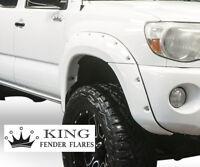 KING FENDER FLARES smooth fits 2005-2011 TACOMA 6' FT Bed pocket rivet Bolt-on