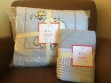 POTTERY BARN KIDS Peanuts SNOOPY Woodstock TWIN Quilt & EURO Sham - NEW