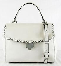 """** MICHAEL KORS """"AVA"""" Optic White Leather MD Shoulder Satchel Bag Msrp $328.00"""