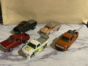 Hot Wheels Ford Sport Trac Chevy Silverado 5 DieCast Trucks 1/64 Good Conditioni