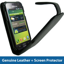 Black Genuine Leather Case for Samsung Galaxy S i9000 Android Cover Holder