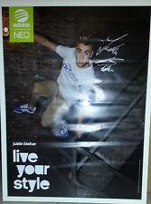 Bild Poster Justin Bieber mit Autogramm Adidas Neo live your style 80 x 50 cm