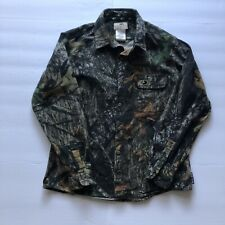 Mossy Oak Thick Button Up Long Sleeve Camo Shirt Size Large Womens