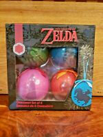 Nintendo NES The Legend of Zelda Christmas Tree Ornament Set of 4.