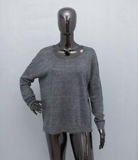 RAG & BONE Jumper 100 % Linen Sweater Top Grey Melange Oversized S