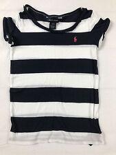 RALPH LAUREN T-Shirt Dünn Mädchen navy Gr.S (7 Jahre) TOP