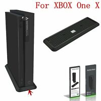 For Microsoft XBOX ONE X Vertical Stand Console Holder Docking Station Black ABS