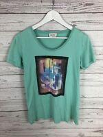 DIESEL T-Shirt - Medium - Turquoise- Great Condition - Women's