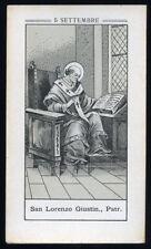 antico santino litografico- holy card S.LORENZO GIUSTINIANI PATR. DI VENEZIA