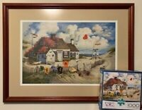 """Charles Wysocki's """"Rootbeer Break at the Butterfields Signed & Numbered w/Puzzle"""