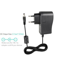 100-240V AC /DC 18V 1A 5.5x2.1mm Power Supply Adapter Wall Charger Cord Cable EU