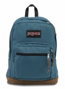 JanSport Right Pack Backpack Captains Blue with Laptop Sleeve Suede Bottom