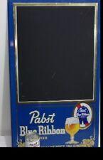 Vintage Pabst Blue Ribbon Beer Chalkboard Blackboard Never Used Sign Metal NICE
