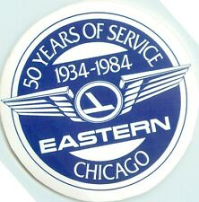EASTERN AIRLINES - Scarce 50 Year Anniversary Luggage Label (1934-1984) ORIGINAL