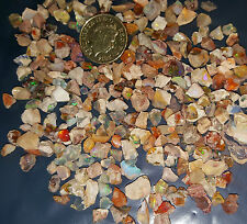 5 Real Fire Opal Chips Australian & Mexican Beautiful Fire Power Healing Chakra