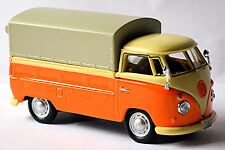 VW Volkswagen T1 à plateau / Plane - Pick-Up 1950-67 orange-crème 1:43