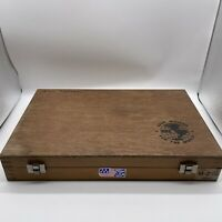 306 machinist turning rods lathe pin gage wooden box only M - 2 .251 / .500 USA