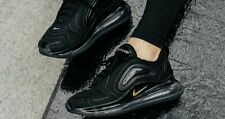 Nike Air Max 720 Women's Unisex Trainers Lifestyle Shoes Black/Metallic Gold