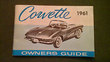 1961 ORIGINAL CORVETTE OWNERS GUIDE 2nd EDITION - PERFECT CONDITION