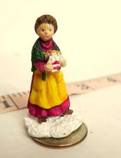 Little Woman with a Gift Box Christmas Grandeur Noel Victorian Village 1995 mini