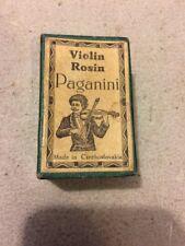 PAGANINI VIOLIN ROSIN MADE IN CZECHOSLOVAKIA ADVERTISEMENT BOX