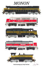 "Monon Locomotives 11""x17"" Poster Andy Fletcher signed"
